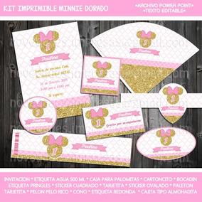 Invitaciones Minnie Mouse Rosa Y Dorado Gratis Unix Drawers