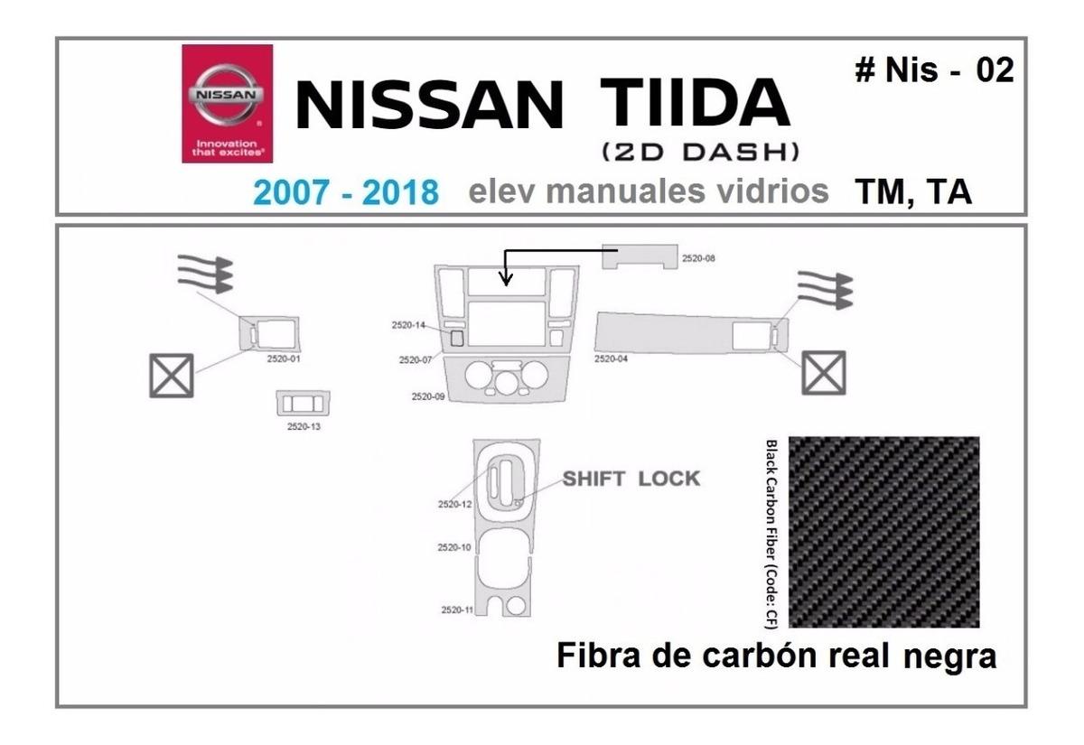 Kit Molduras Tablero Nissan Tiida