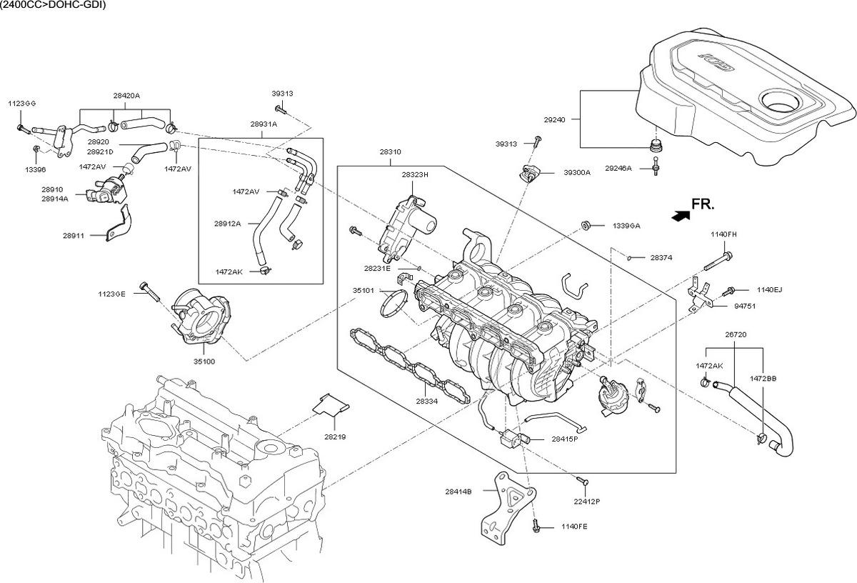 Motor Actuador Vcm Kia Optima Sorento Gga1