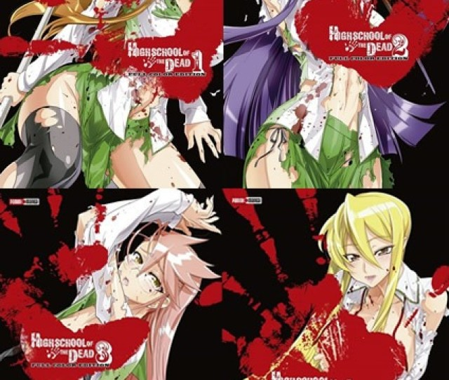 Paquete Manga Highschool Of The Dead Color  Panini