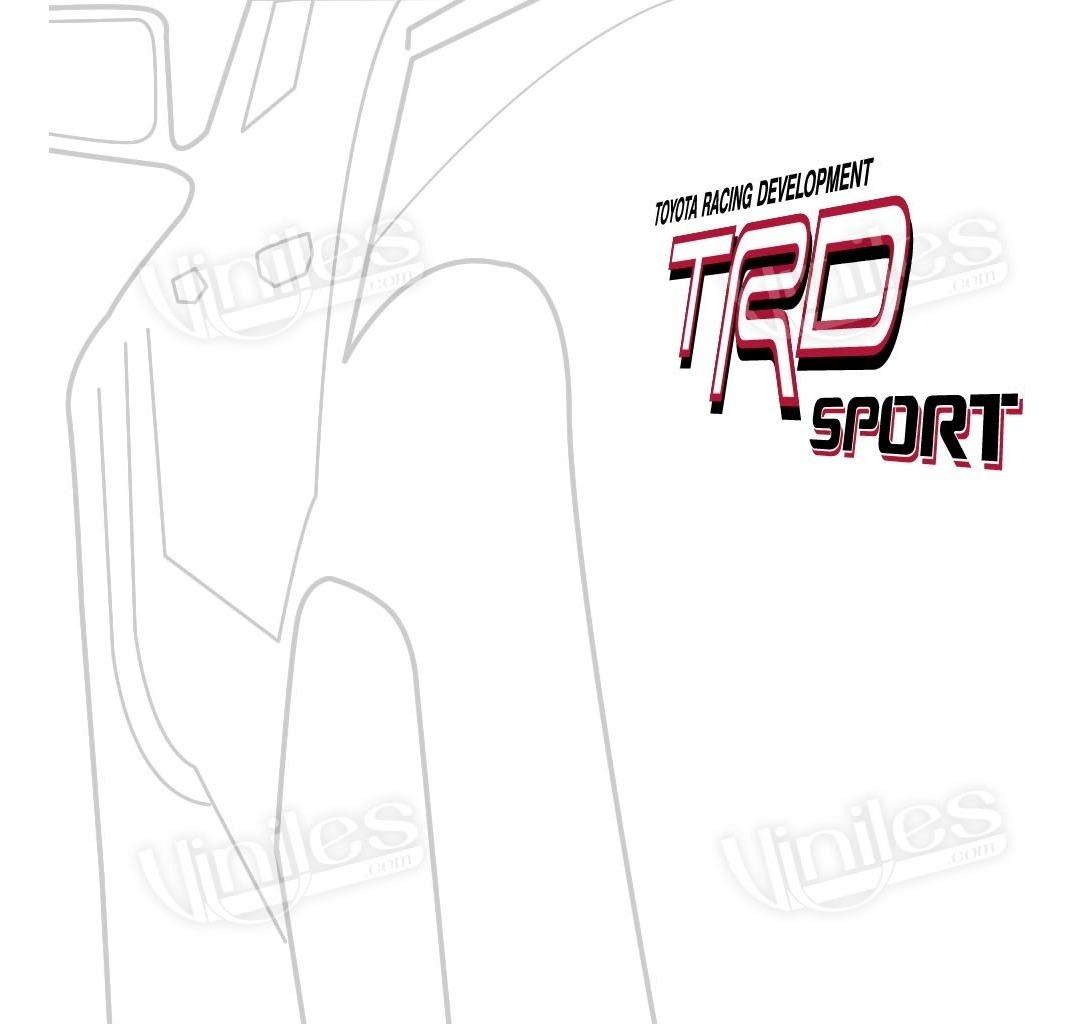 Par De Calcomanias Stickers Toyota Trd Sport Tacoma