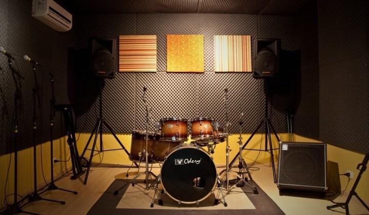 montar estúdio musical revestimento de espuma