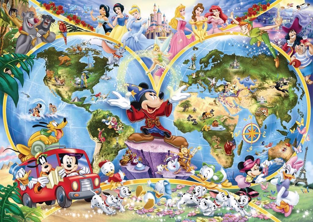 Rompecabezas Disney De De Juegos