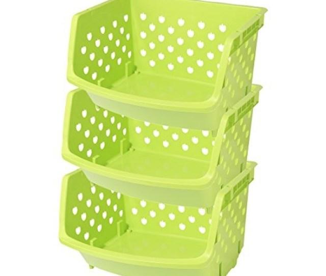 Ruiyif 3 Pack Stackable Storage Bins Plastic Freezer 278 777 En Mercado Libre