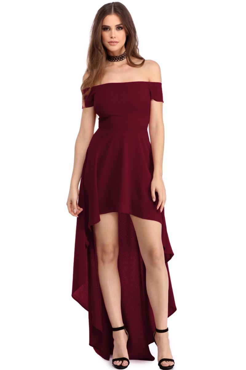 034cc6292 Cargando Zoom. Y Vestido Fiesta Boda Noche Coctel Sin Hombros 61437 559 20. Vestidos  Largos Rojo1