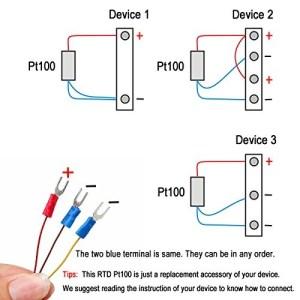 Sonda De Sensor De Temperatura Crocsee Rtd Pt100 3 Hilos