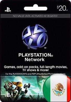 Tarjeta Gift Card Playstation Network 20 Usd Mexicana Ps3
