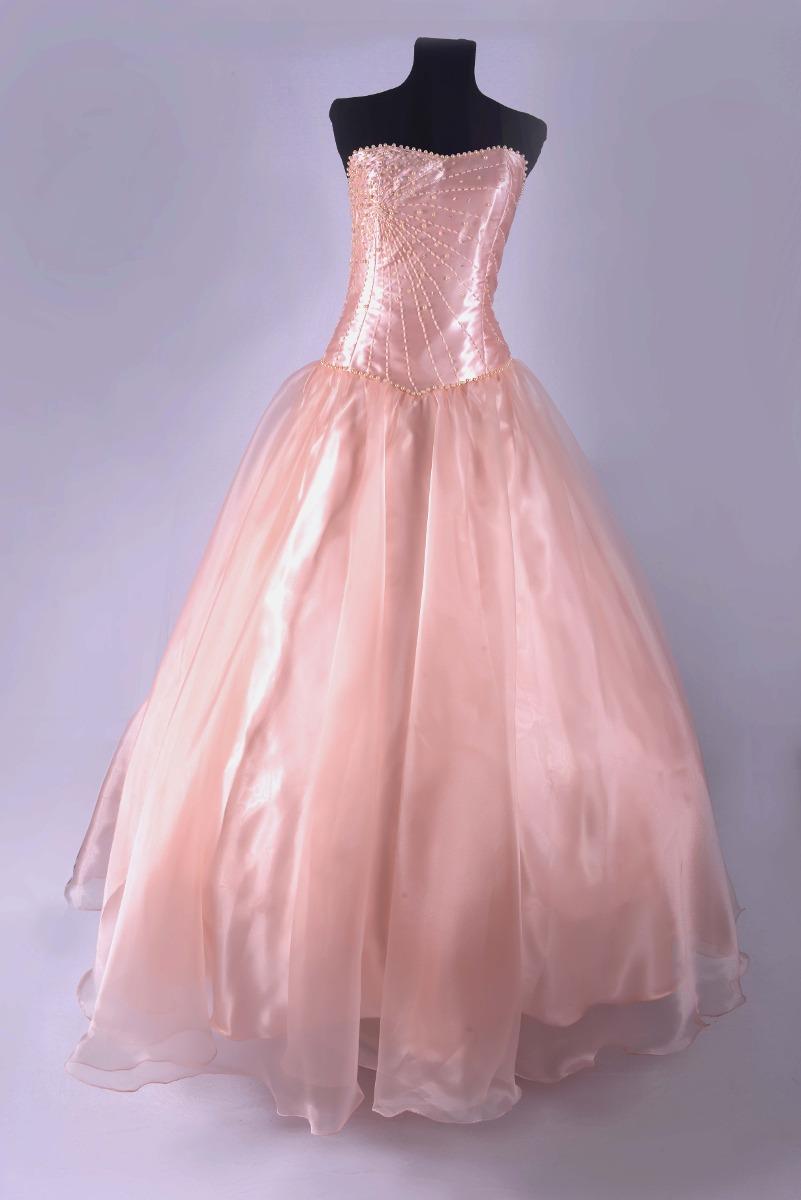7951e0d696 Vestido De 15 Color Salmon 4 390 00 En Mercado Libre
