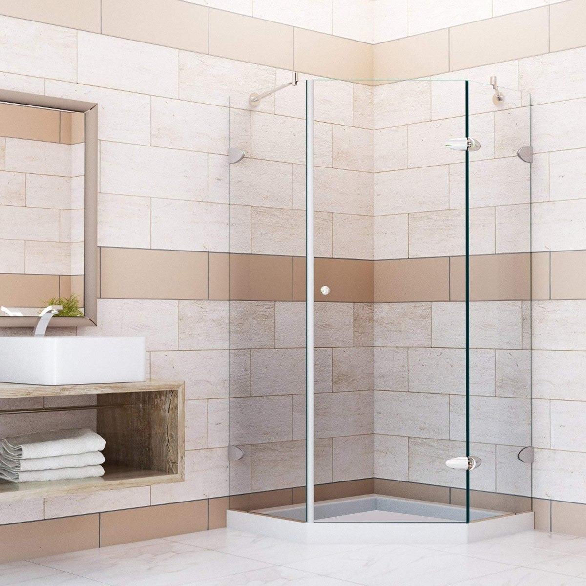 Vigo Verona 40 X 40 In Frameless Neo Angle Shower Enclosure