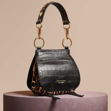 The Bridle Bag in Alligator and Calfskin