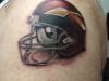Washington Redskins Throwback Helmet Tattoo