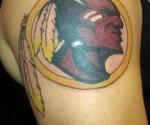 Washington Redskins Alternate Logo Tattoo