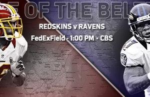 Washington Redskins Vs Baltimore Ravens Week 14