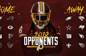Washington Redskins 2018 opponents list