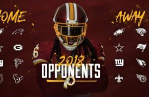 Washington Redskins 2018 opponents list