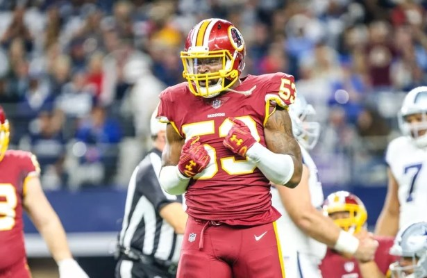 Washington Redskins re-sign inside linebacker Zach Brown