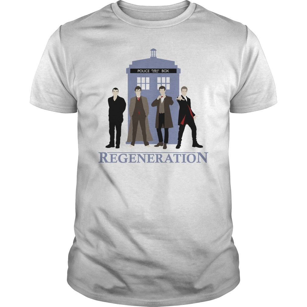 Doctor who regeneration printed shirt