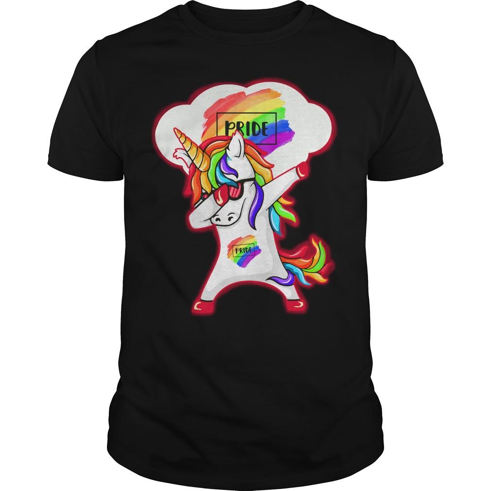 Unicorn dabbing LGBT Pride shirt