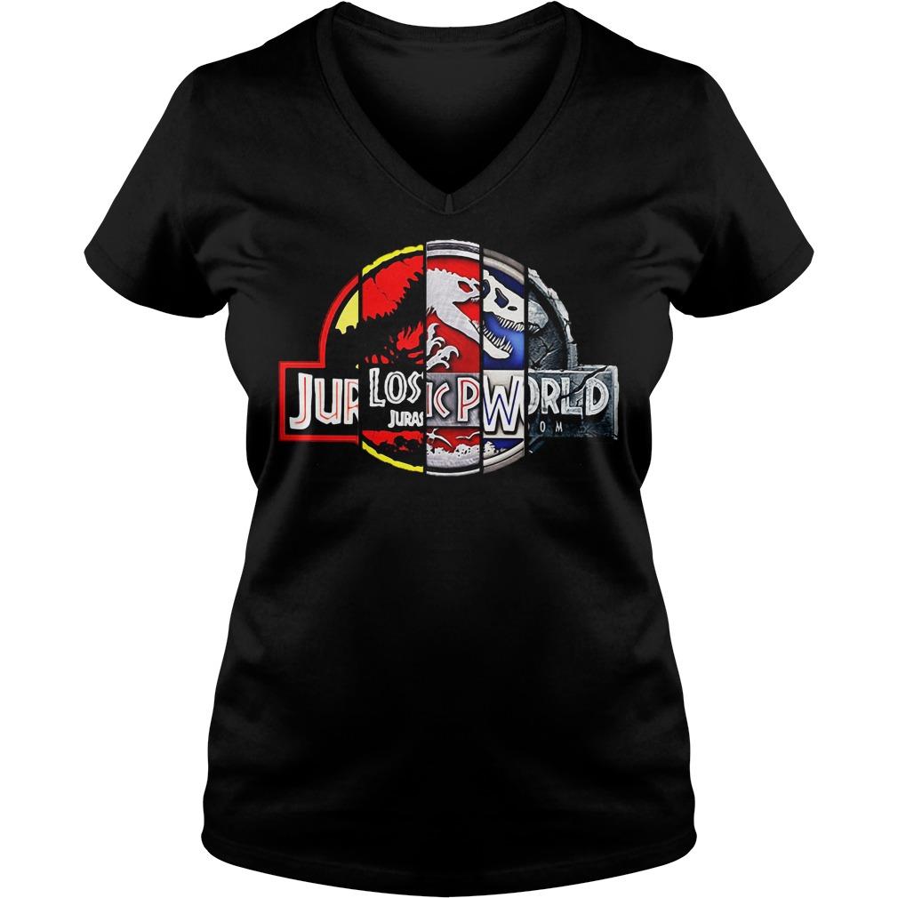 Jurassic park: 25th anniversary v-neck t-shirt