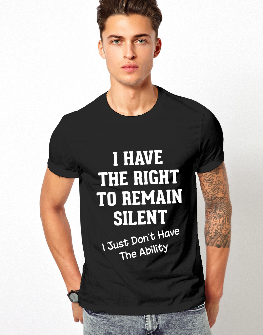I have the right to remain silent I just didn't have the ability shirt