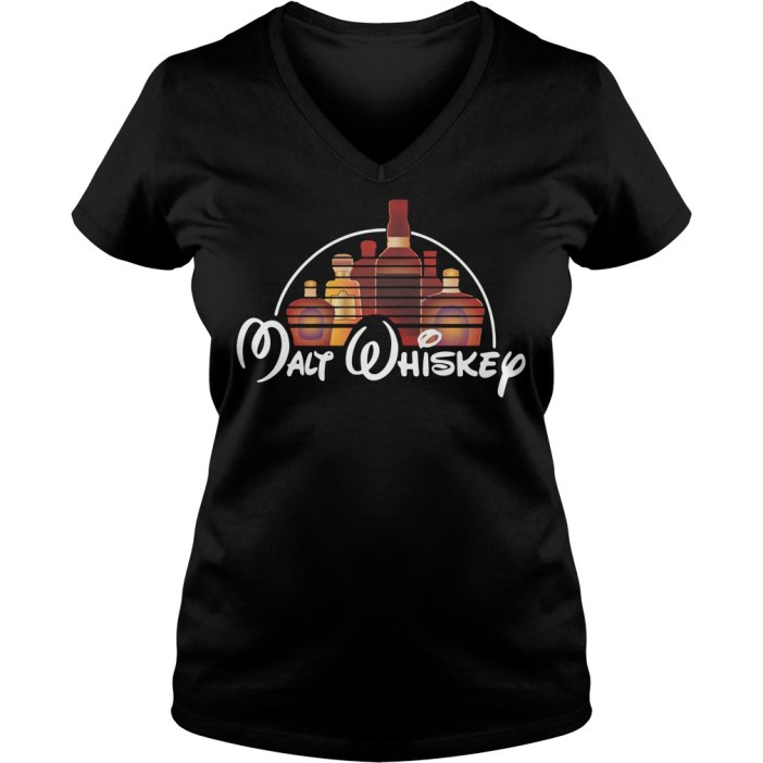 Malt whiskey Disney V-neck t-shirt