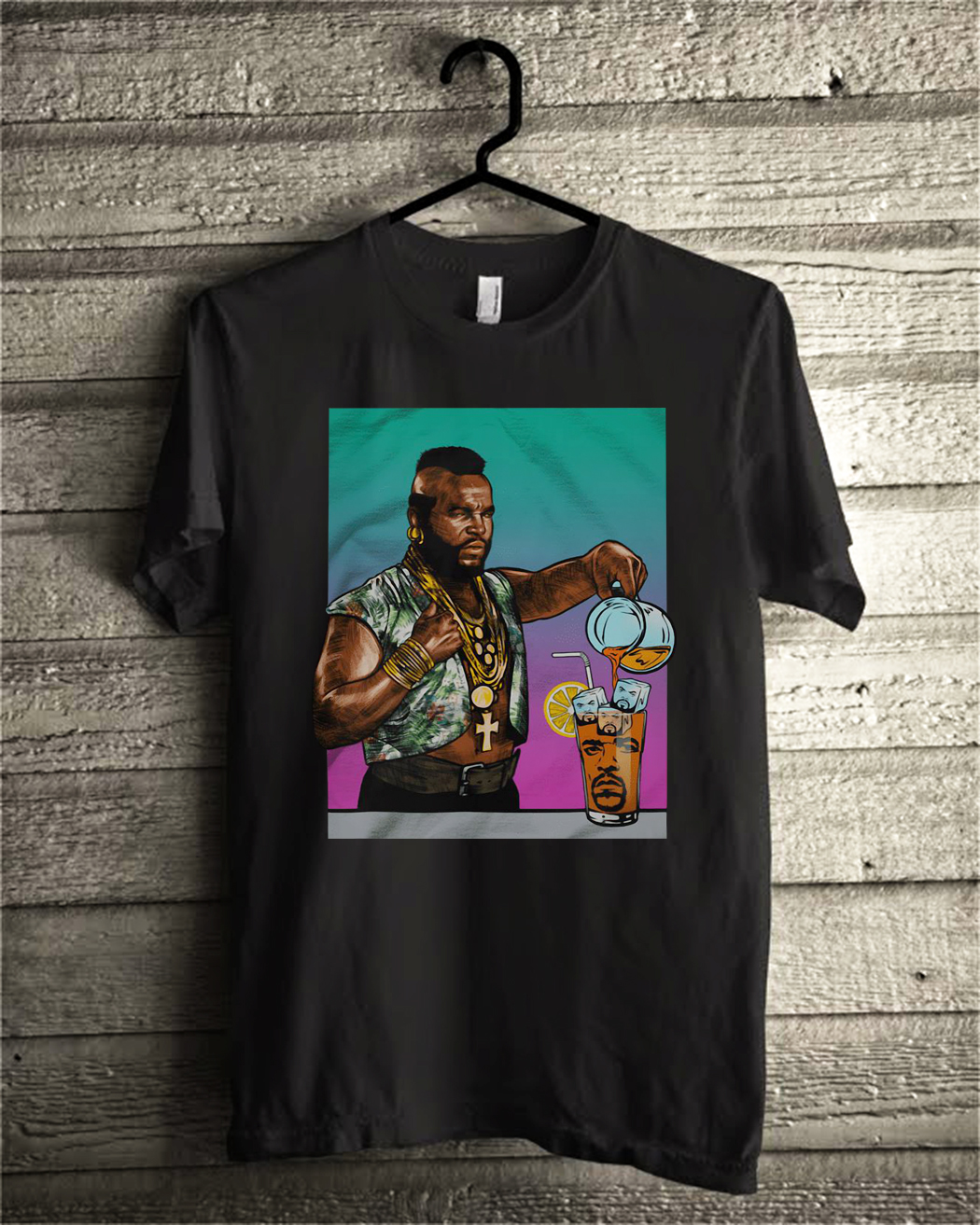Mr. T Drinking Iced Tea Ice Cube shirt