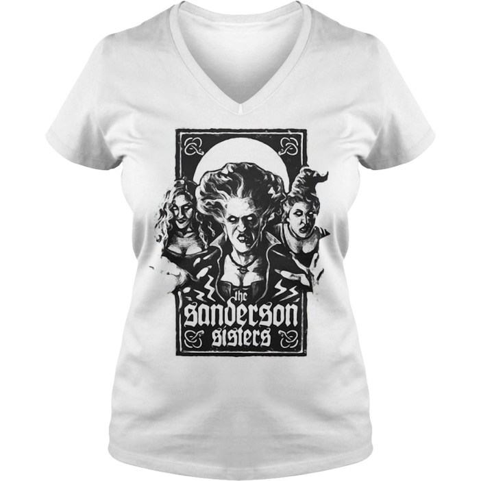Hocus pocus the sanderson sisters Halloween V-neck t-shirt