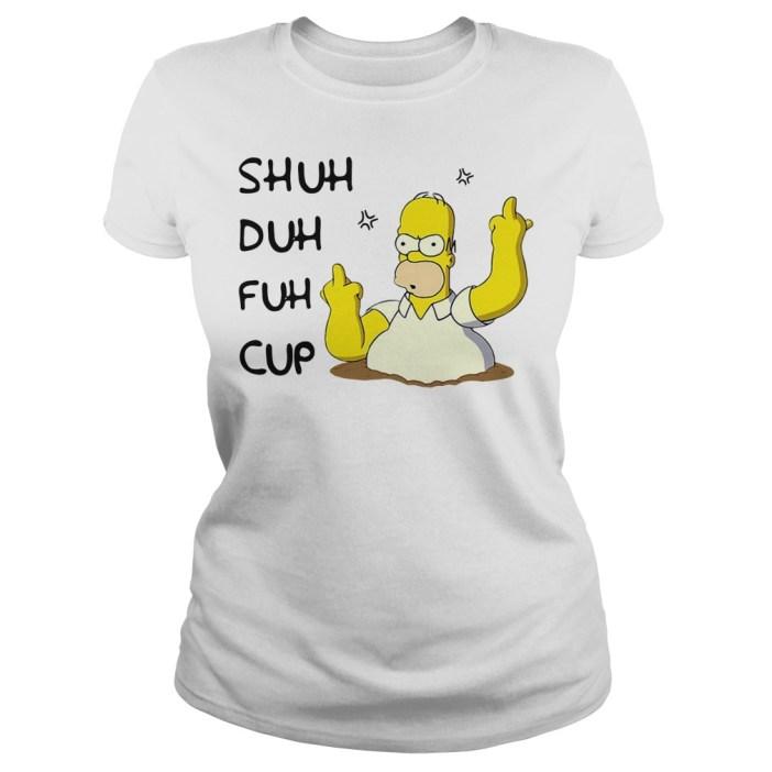 Homer Simpson Shuh Duh Fuh Cup Ladies tee