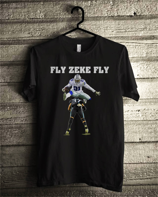 8c702bd17a8 Ezekiel Elliott Fly Zeke Fly Dallas Cowboys shirt