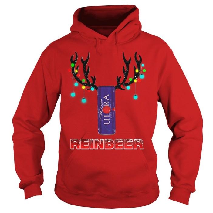 Michelob Ultra reinbeer Christmas Hoodie