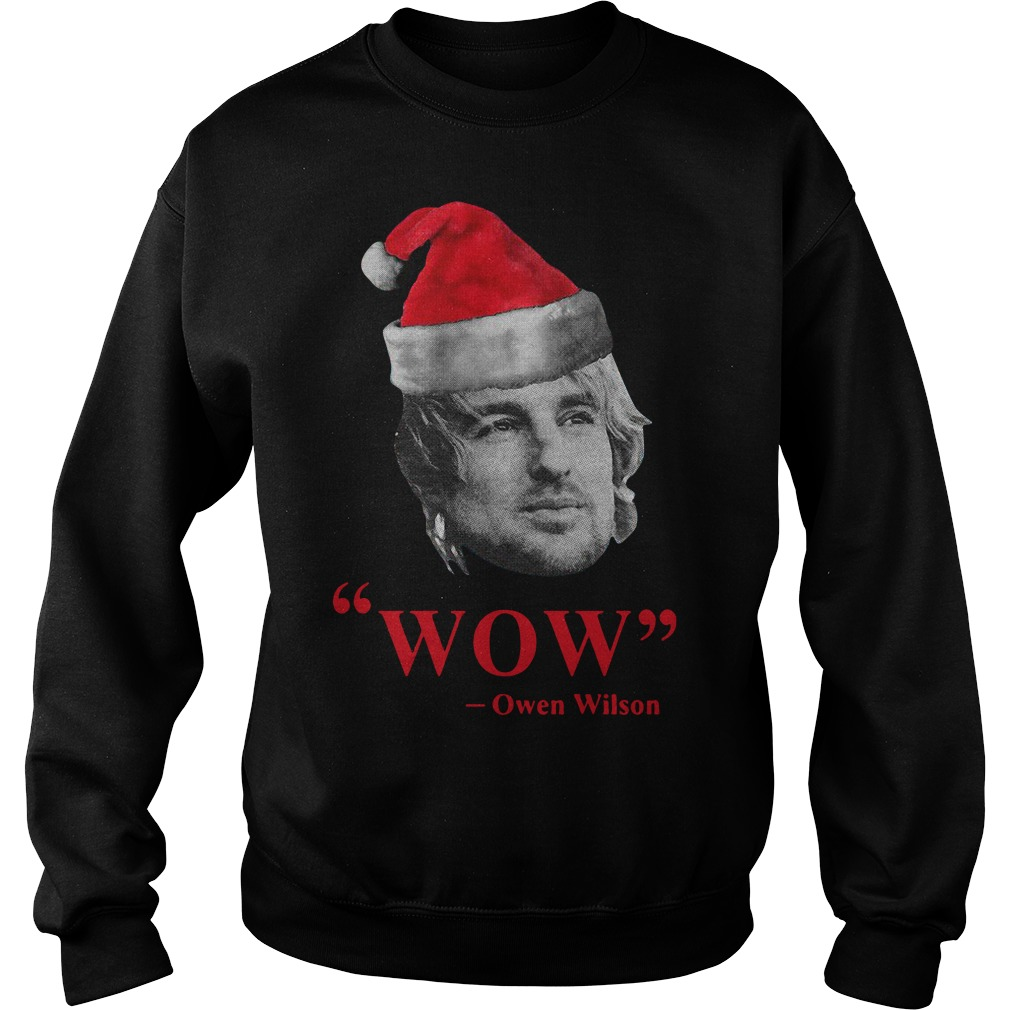 wow owen wilson Santa Christmas sweater
