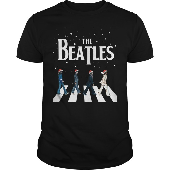 Christmas The Beatles Abbey Road Guys shirt