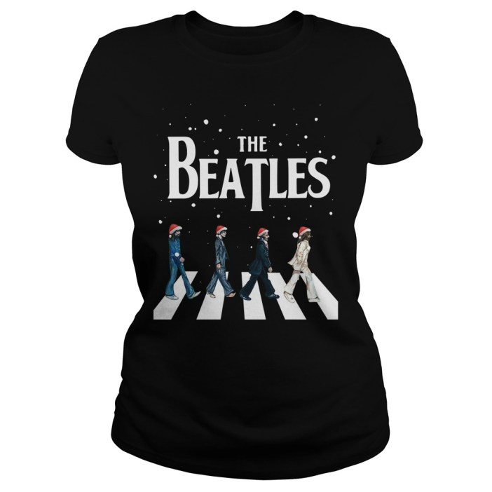 Christmas The Beatles Abbey Road Ladies tee