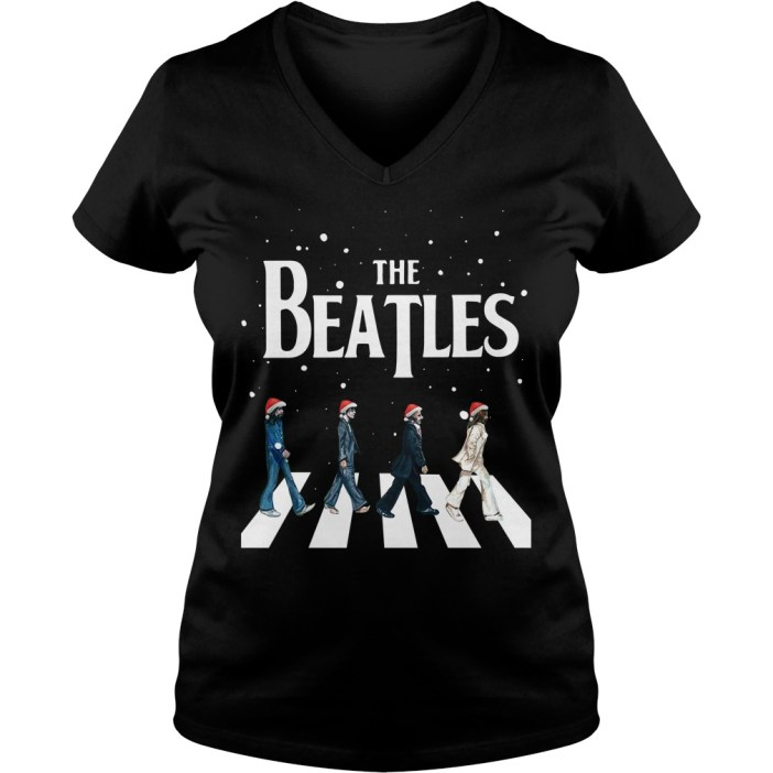 Christmas The Beatles Abbey Road V-neck t-shirt