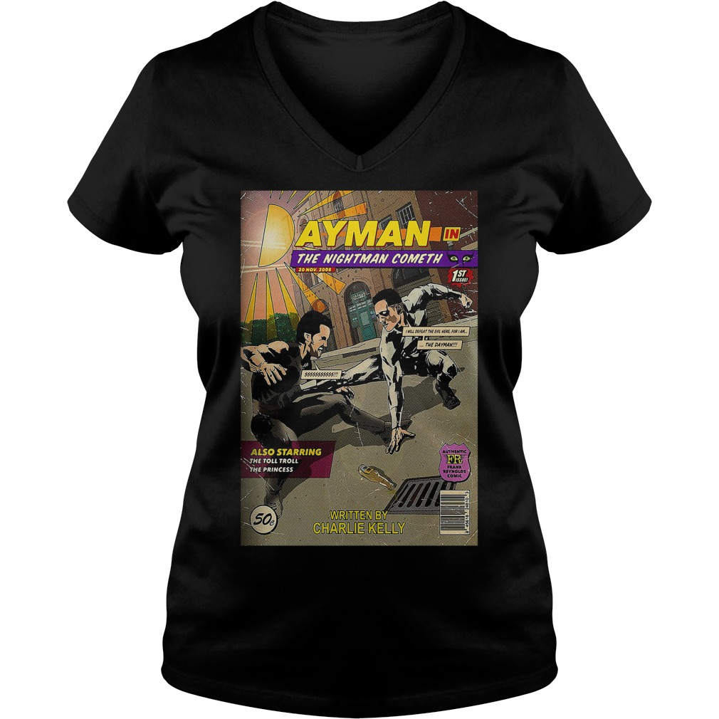 Dayman in the nightman cometh V-neck t-shirt