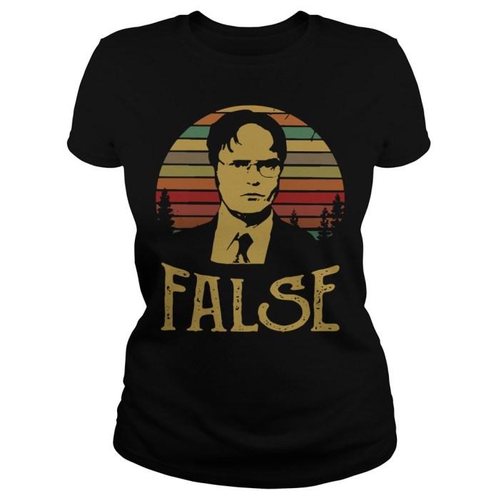 Dwight Schrute false vintage Ladies tee