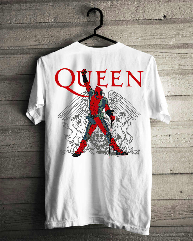 The Queen Freddie Mercury Deadpool shirt