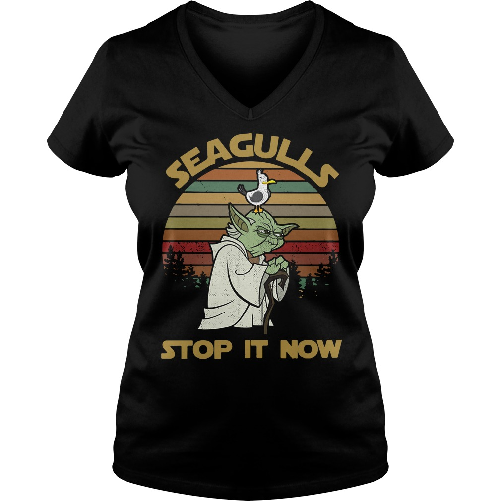 Seaguls stop it now V-neck T-shirt