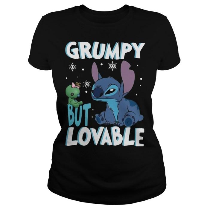 Stitch Grumpy but lovable Ladies Tee