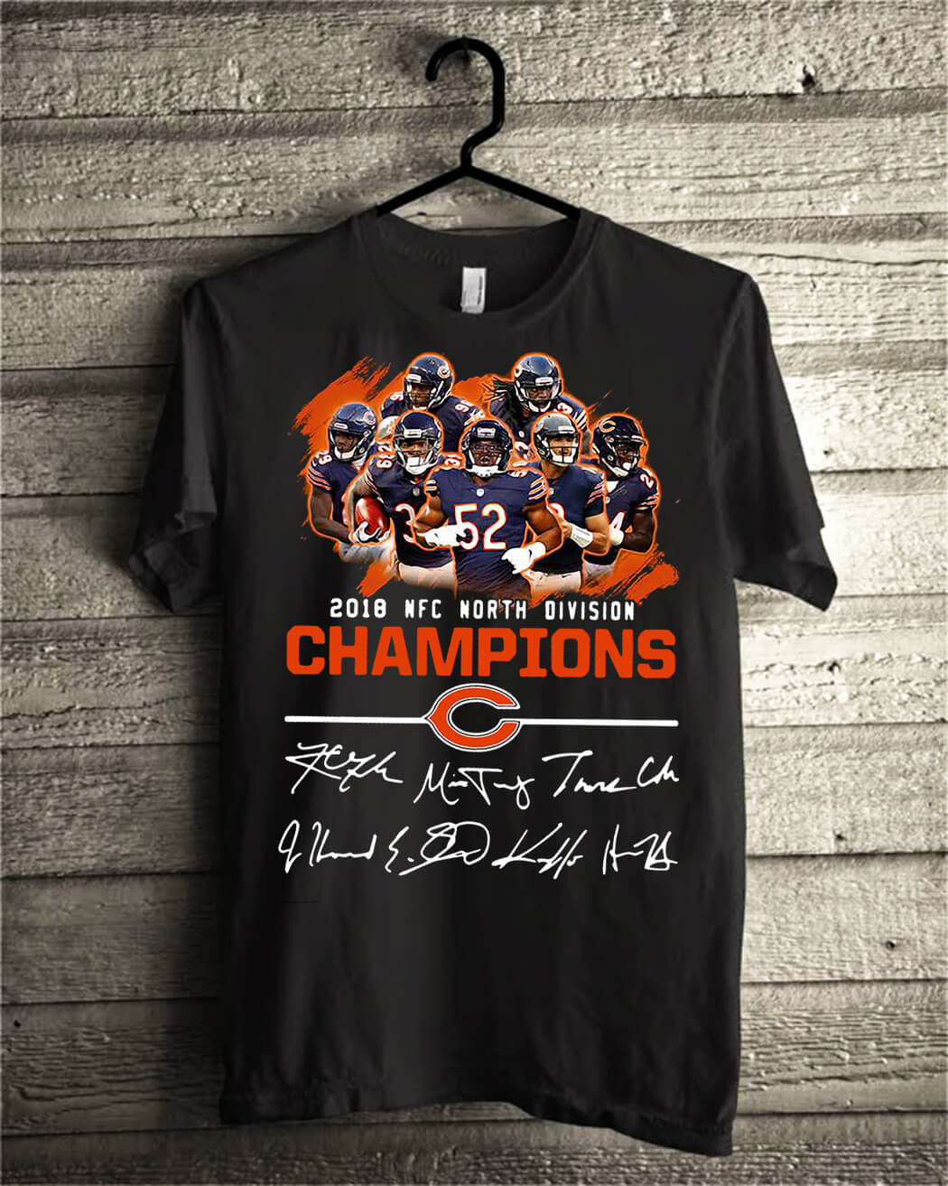 cb6d5f7aa77b4 Chicago Bears 2018 NFC north division Champions shirt