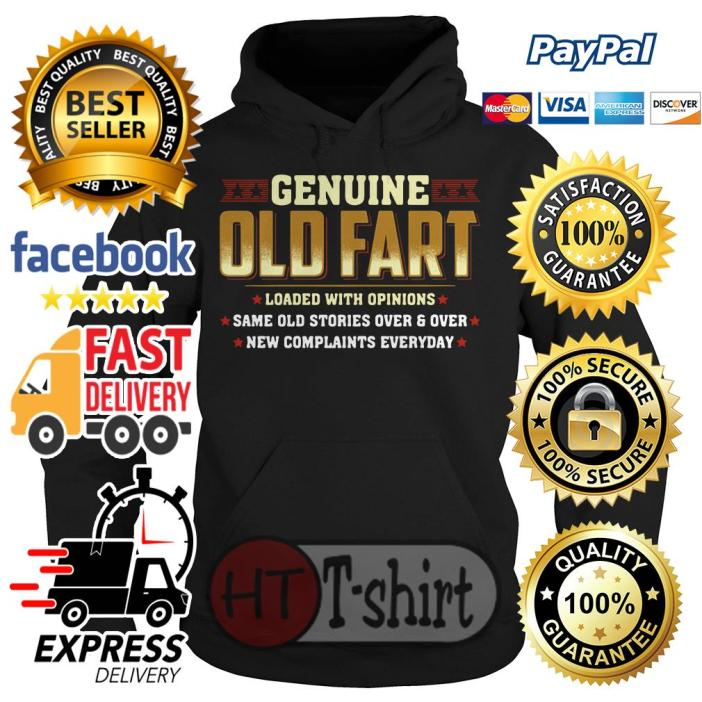 Genuine old fart loaded with opinions same old stories over Hoodie
