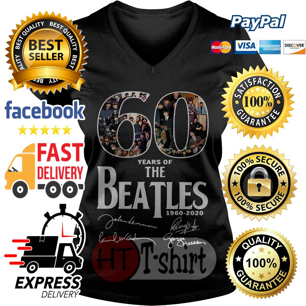 60 Years Of The Beatles 1960-2020 V-neck t-shirt
