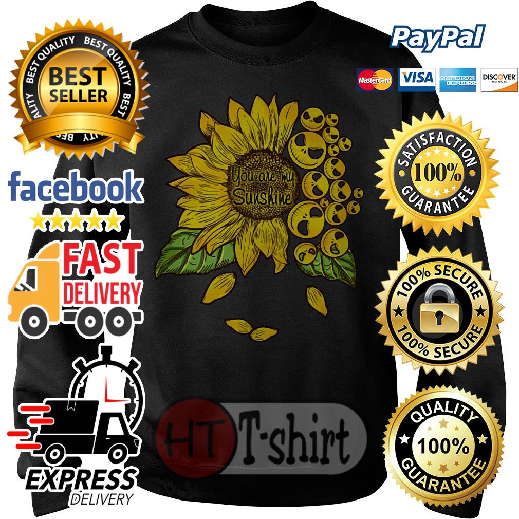 Face Jack Skellington you are my sunshine Sunflower Sweater