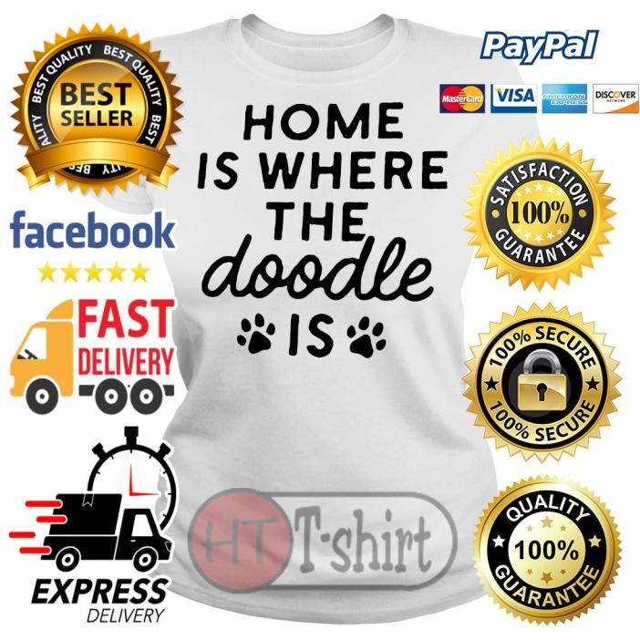 Home is where the Doodle is Dog Ladies tee