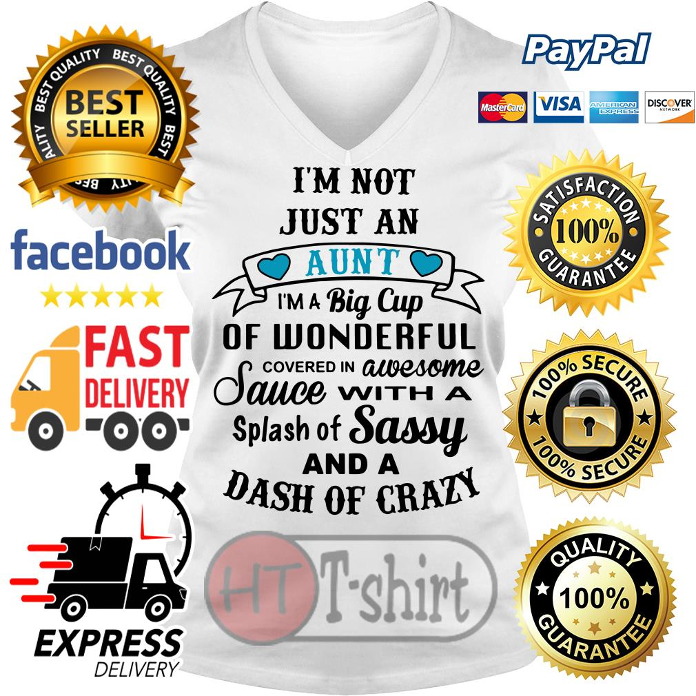 I'm not just an aunt I'm a big cup of wonderful covered in awesome V-neck t-shirt