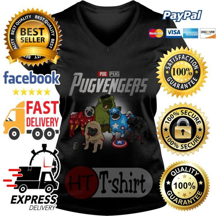 Marvel Avengers Pug Pugvengers V-necMarvel Avengers Pug Pugvengers V-neck t-shirtk t-shirt