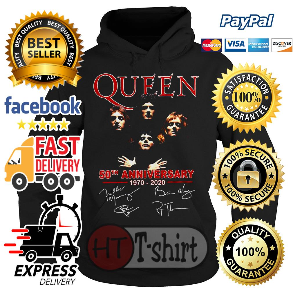 Queen 50th anniversary 1970 2020 signature Hoodie