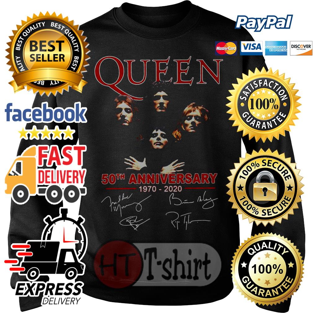 Queen 50th anniversary 1970 2020 signature Sweater