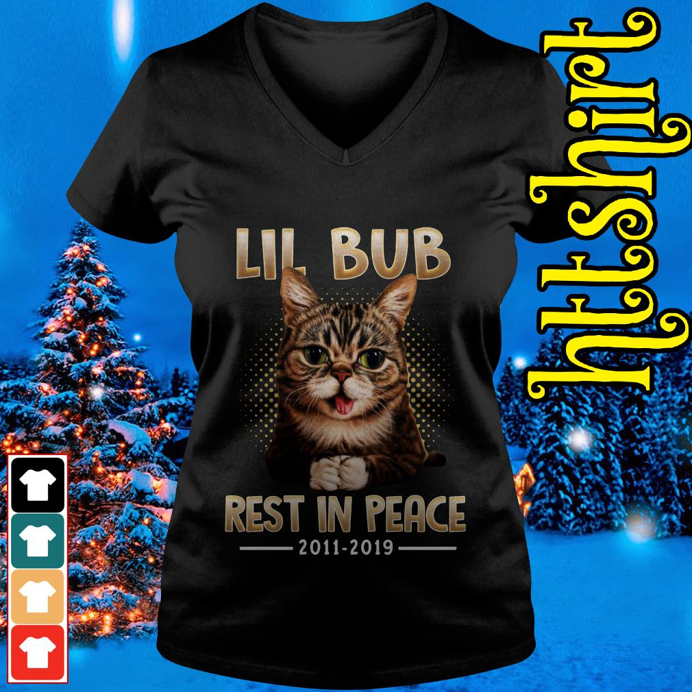 Lil Bub rest in peace 2011-2019 V-neck t-shirt