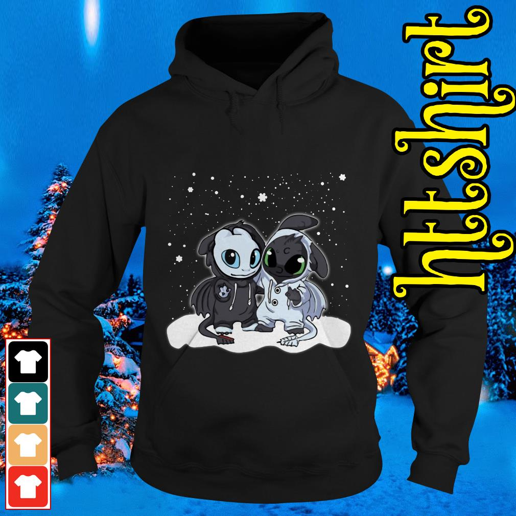 Night Fury and Light Fury Christmas Hoodie